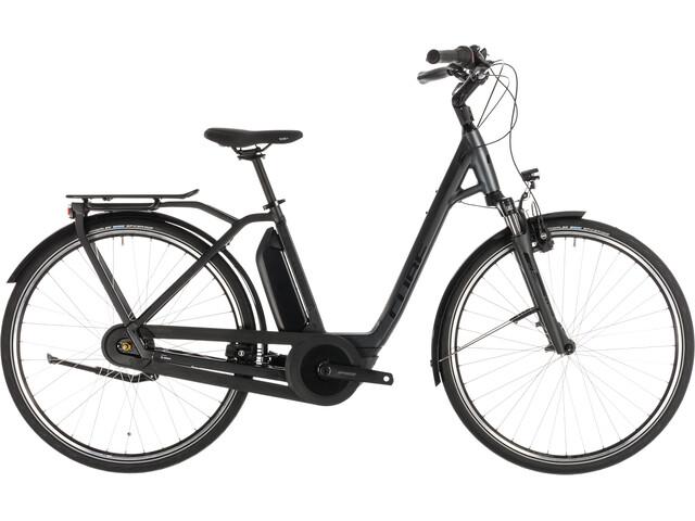 Cube Town Hybrid Pro 400 Elcykel City Easy Entry grå